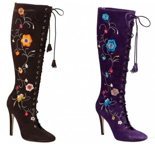 Stivali con fantasia a fiori per Jimmy Choo